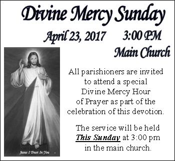 DEVINE MERCY SUNDAY